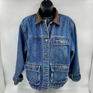 Vintage WRANGLER Denim Jacket Size M Wrist Buckles- Excellent Condition!